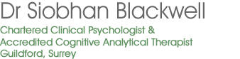 Siobhan Blackwell - chartered clinical psychologist North London